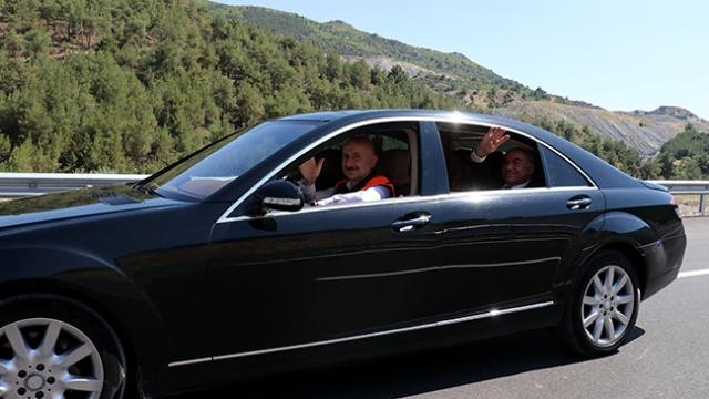 Amasya Çevre Yolu'nda ilk sürüşü Bakan Karaismailoğlu yaptı