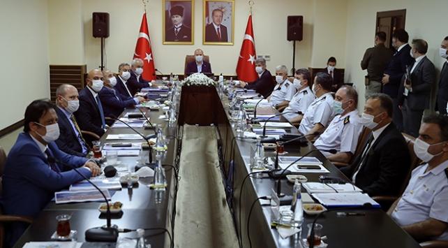 Bakan Soylu başkanlığında Mersinde güvenlik toplantısı yapıldı