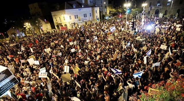 Netanyahu karşıtı gösteriler ülke geneline yayılıyor
