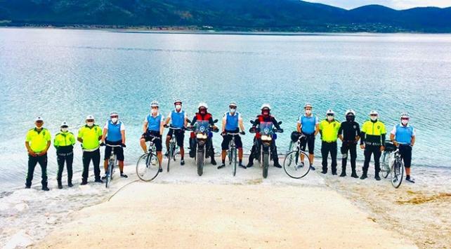 Salda Gölünün güvenliği Bisikletli Martı Timine emanet