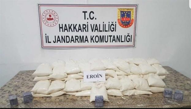 """""""Yıldırım-2 Cilo Operasyonu""""nda 80 kilo 630 gram eroin ele geçirildi"""