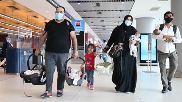 Suudi Arabistan mahsur kalan aile Türkiye'ye getirildi