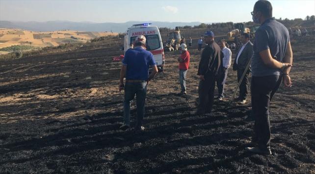 Buğday ekili tarlada çıkan yangında bir kişi hayatını kaybetti