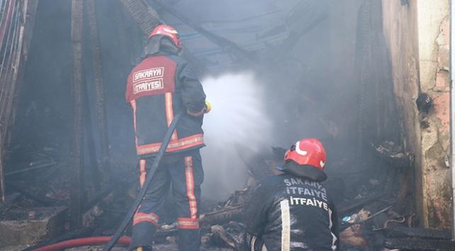 Sakaryada çıkan yangında 3 ev kül oldu