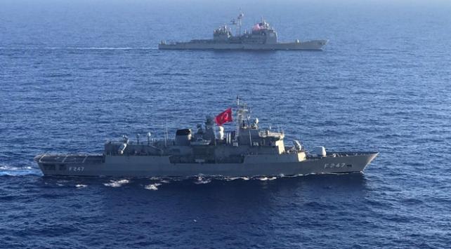Türkiye ve ABDden Akdenizde ortak deniz eğitimi