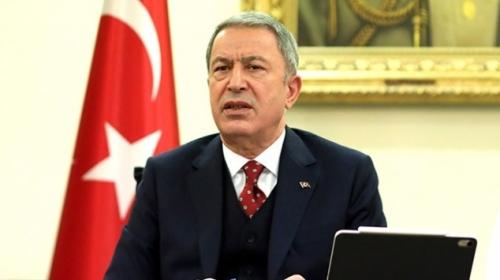 Bakan Akar'dan Doğu Akdeniz mesajı: Hakkımızı mutlaka kullanacağız