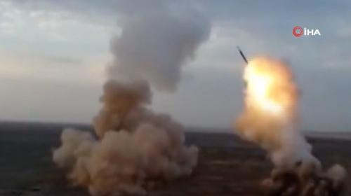 İran ilk kez yerin altından balistik füze denedi