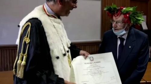 İtalya'nın en yaşlı öğrencisi 96 yaşında mezun oldu