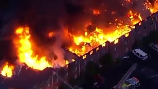 ABD'de çıkan yangında 125 kişi evsiz kaldı