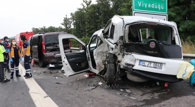 Anadolu Otoyolunda zincirleme kaza