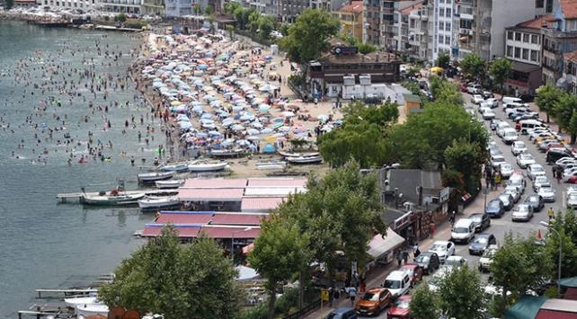 Amasraya nüfusunun 10 katı tatilci geldi