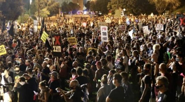 İsrailde Netanyahu karşıtı gösteriler sürüyor