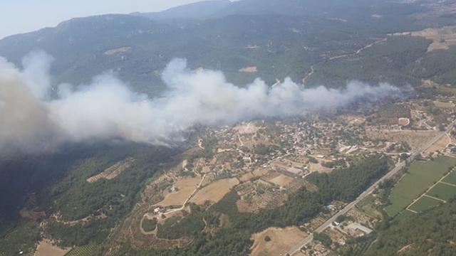 İzmir'de de orman yangını başladı