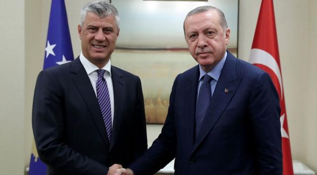 Cumhurbaşkanı Erdoğan Kosova Cumhurbaşkanı ile bayramlaştı