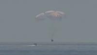 İki astronotu taşıyan SpaceX kapsülü Dünya'ya döndü