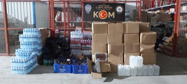 Adanada 315 litre sahte içki ve 2 bin litre etil alkol ele geçirildi