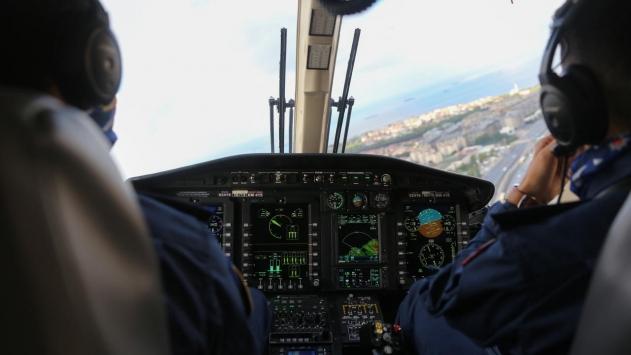 Jandarmadan tatil dönüşü helikopter destekli trafik denetimi