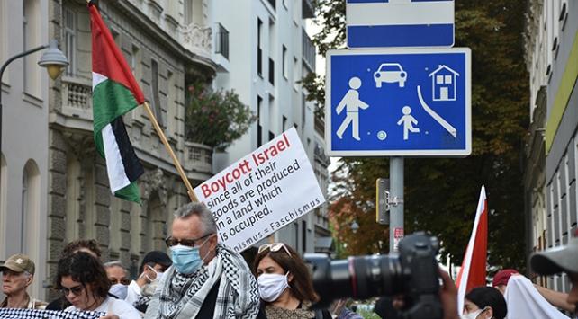 Avusturyada İsrail ve ABD protesto edildi