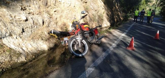 Kahramanmaraşta motosiklet devrildi: 1 ölü, 1 yaralı