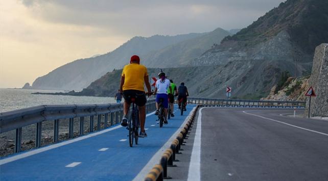 Hatayda deniz ile dağ arasında 26 kilometrelik bisiklet yolu