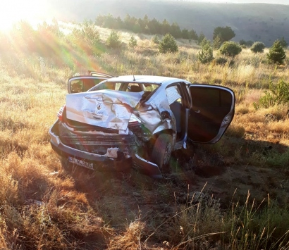 Sivasta otomobil devrildi: 1 ölü, 3 yaralı