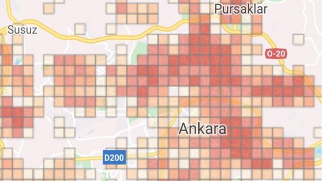 İlçe ilçe Ankara koronavirüs haritası… Ankarada koronavirüs vakalarının yoğun olduğu ilçeler…