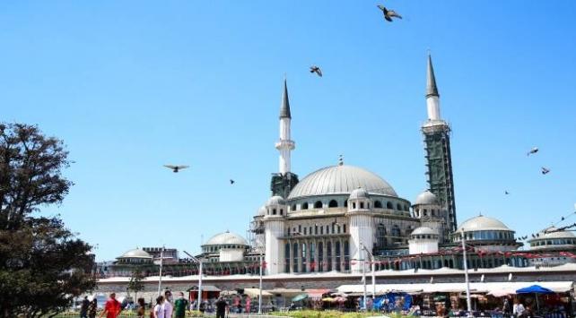Taksime yapılan camide işçiliğin yüzde 65i tamamlandı