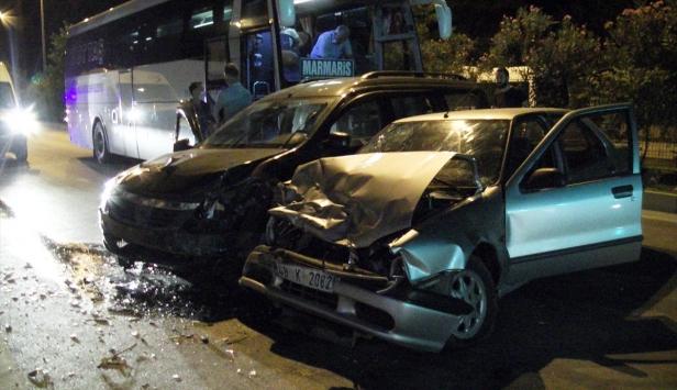 Muğlada zincirleme trafik kazası: 5 yaralı