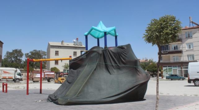 Konyada salgın tedbirleri kapsamında oyun parkları çadırla kapatıldı