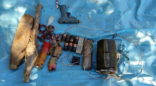 Bingölde teröristlere ait el yapımı patlayıcı ele geçirildi