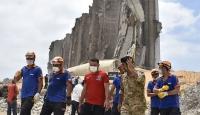 Türk kurtarma ekibi Beyrut Limanı'nda çalışma yürütüyor