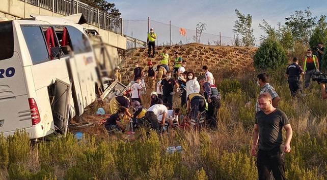 Kuzey Marmara Otoyolunda otobüs kazası: 5 kişi öldü, çok sayıda yaralı var