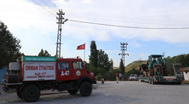 Bulgaristandaki yangın tehdidiyle ilgili Edirnede kriz masası oluşturdu