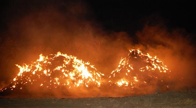 Tekirdağda 6 bin balya saman yandı