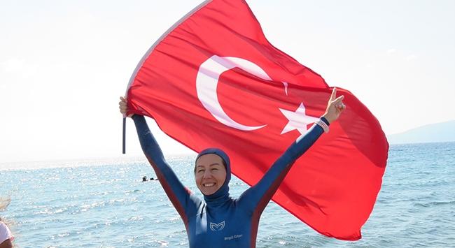 Milli dalışçıdan yeni dünya rekoru denemesi