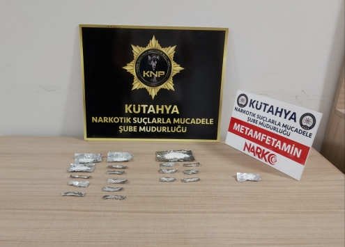 Kütahyada uyuşturucu ticareti iddiasıyla yakalanan şüpheli tutuklandı