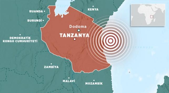 Tanzanyada 6 büyüklüğünde deprem