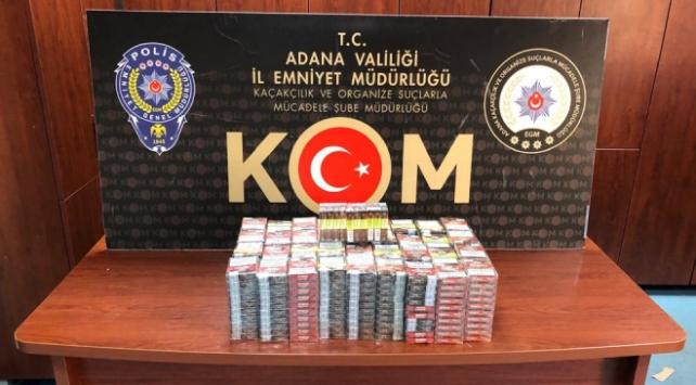 Adanada 70 bin lira değerinde kaçak içki ve tütün ele geçirildi