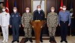 Akar ve komutanlardan Donanma Komutanlığında Oruç Reis incelemesi