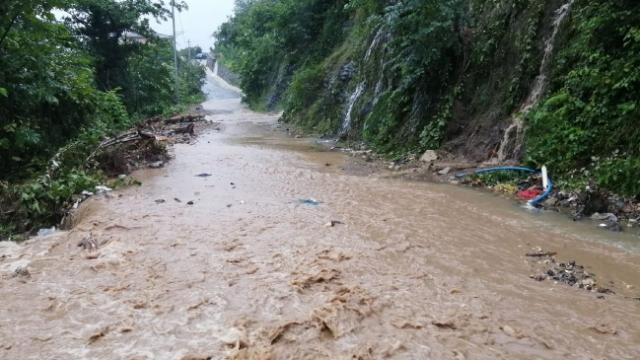 Trabzon'da şiddetli yağış toprak kaymasına yol açtı