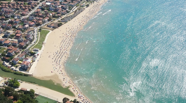 Kocaelinde sahiller helikopterle denetlendi
