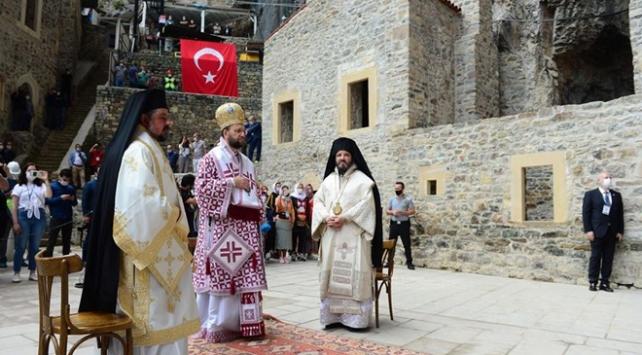 Sümela Manastırında 5 yıl aradan sonra ilk ayin