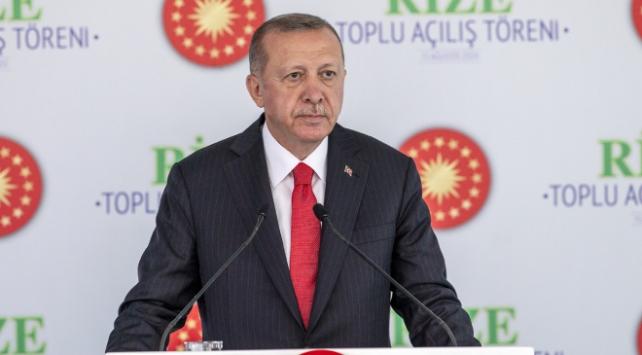 Cumhurbaşkanı Erdoğan Rizede 33 projenin açılışını gerçekleştirdi