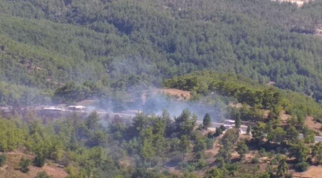 Antalyada çıkan orman yangını söndürüldü