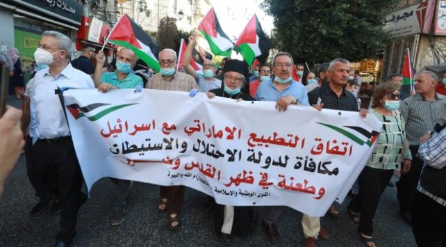 İsrail-BAE anlaşması Batı Şeriada protesto edildi