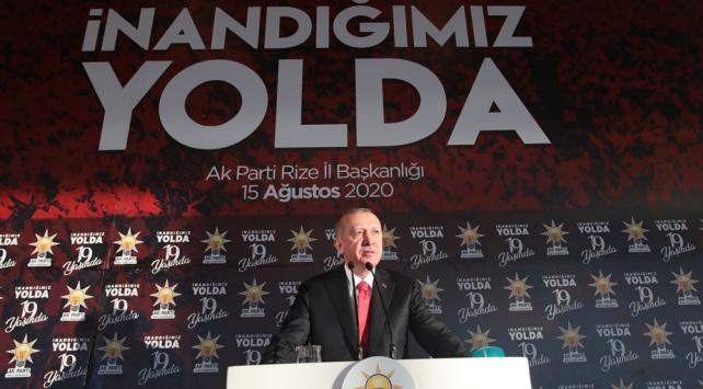Cumhurbaşkanı Erdoğan: Kıta sahanlığımızda haydutluğa asla boyun eğmeyeceğiz