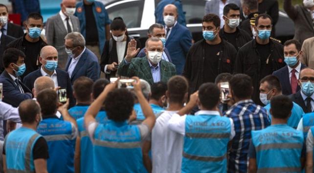 Cumhurbaşkanı Erdoğan Rize-Artvin Havalimanı inşaatını inceledi