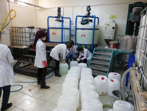 Hataydan Afrin ve Cerablusa yüzey ve el dezenfektanı desteği