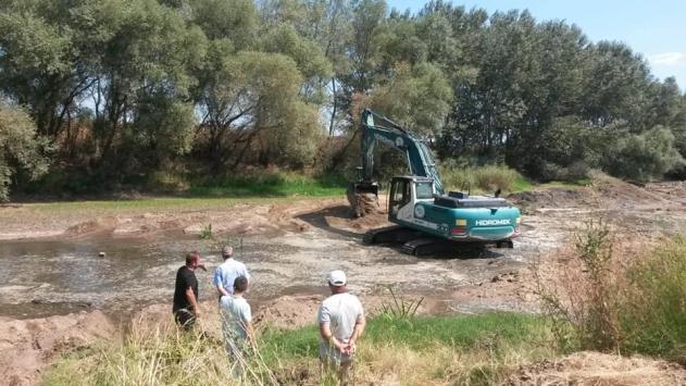 DSİnin nehirdeki çalışmaları çeltik üreticilerine can suyu oldu