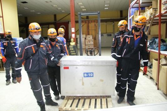 Marmara Depreminin 21. yılı nedeniyle Erzurumda tatbikat yapıldı